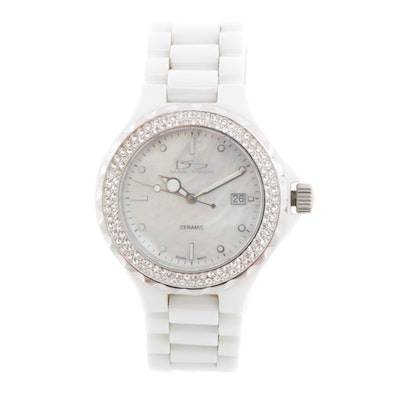 Daniel Steiger Ceramic Watch with Mother of Pearl