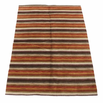 Hand-Knotted Indian Kilim Rug