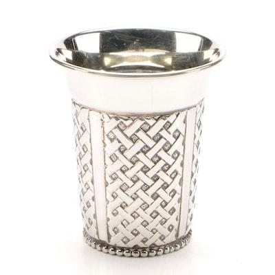 "Hadad Judaica Sterling Silver ""Woven"" Kiddush Cup"