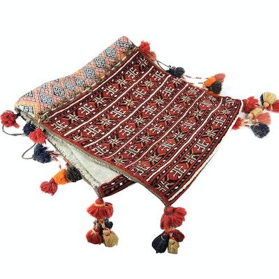 Hand-Knotted Persian Kurdish Saddlebag