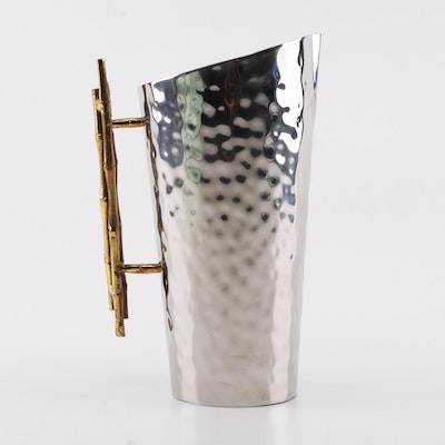 Dessau Home Nickel and Bamboo Pitcher