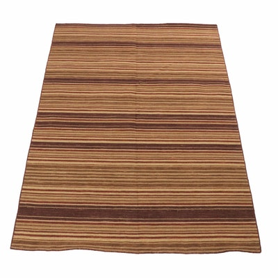 Hand-Woven Indian Kilim Rug