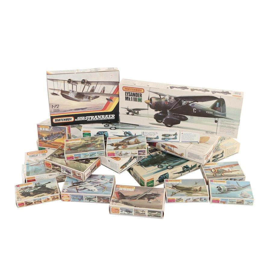Matchbox Military Plane Scale Model Kits, 1970s - 1980s