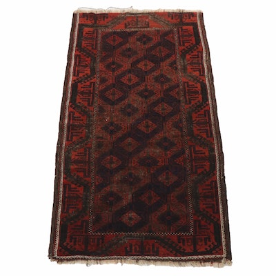 Hand-Knotted Yomut Wool Area Rug