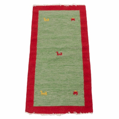 Hand-Woven Pakistani-Persian Gabbeh Rug