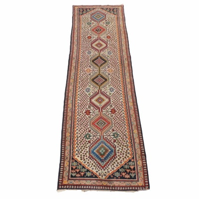 Hand-Knotted Caucasian Karabagh Carpet Runner