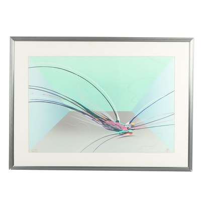 Abstract Serigraph Attributed to Elba Alvarez