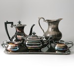 Silver Plated Coffee and Tea Set Including Ellis-Barker and E.H. Parkin