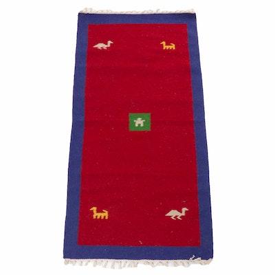 Hand-Woven Persian Gabbeh Kilim Rug