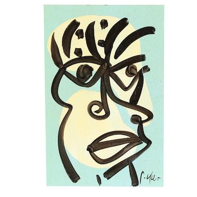 "Peter Keil Acrylic Painting ""John Travolta"""