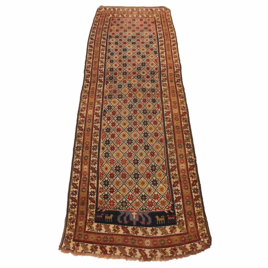 Handwoven Caucasian Karabagh Kilim Carpet Runner
