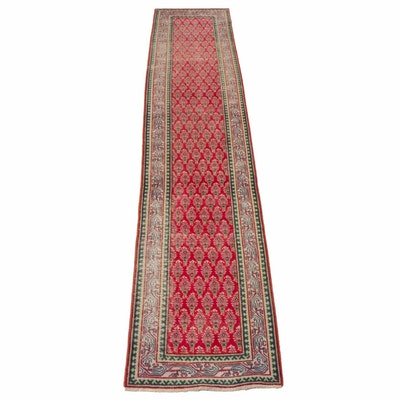 Hand-Knotted Persian Malayer Sarouk Runner, circa 1930