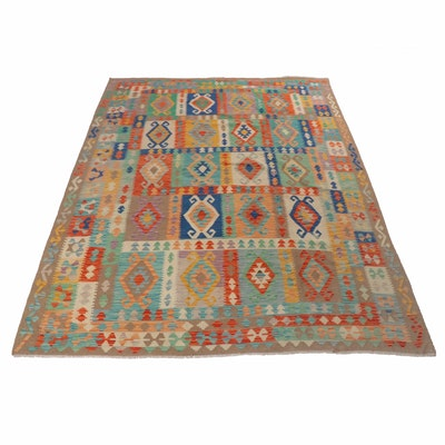8'4 x 11'5 Handwoven Turkish Kilim Room Size Rug