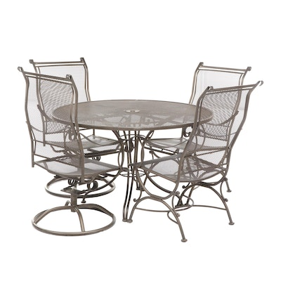 Outdoor Iron Patio Table with Chairs