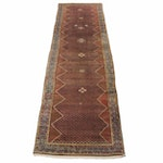 3'9 x 14'0 Hand-Knotted Persian Malayer Carpet Runner, circa 1920s