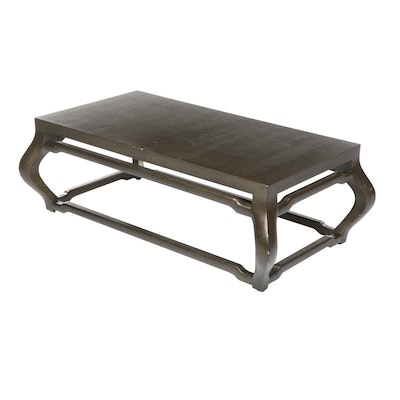 Vinyl Coated Coffee Table with Cyma Curve Legs