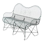 Metal Wire Outdoor Bench