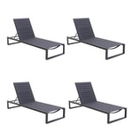"Matthew Hilton for Case ""Eos"" Chaise Lounge Chairs in Black"