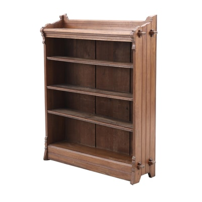 Lockwood, Brooks and Co. Victorian Walnut Bookcase, Late 19th Century