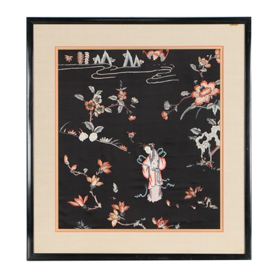 Chinese Handmade Silk Embroidery Panel