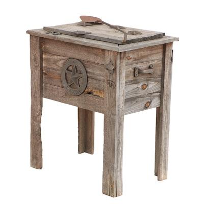 Rustic Wooden Patio Cooler