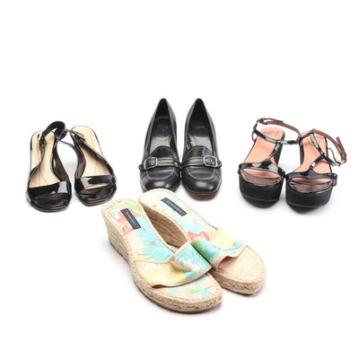Coach, Kate Spade New York and Burberry Bock Heels and Wedges