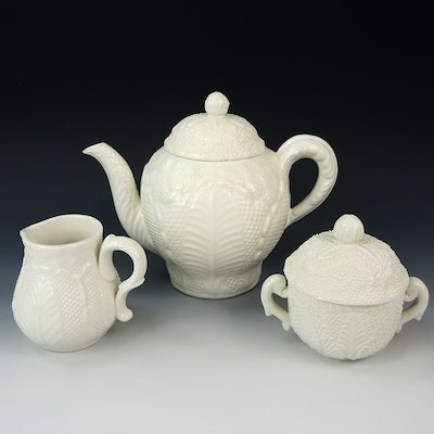 Este Ceramiche for Tiffany Teapot, Sugar and Creamer