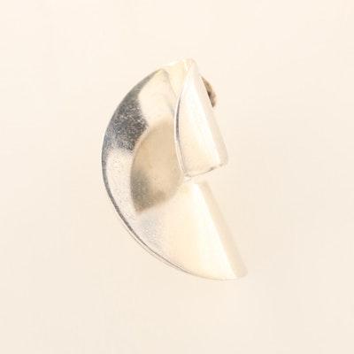 Contemporary Sterling Silver Pendant