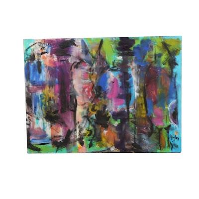 "Stefan Georg Acrylic Painting ""Harmonious Arrangement # 60"""