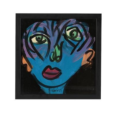 "Peter Keil Acrylic Painting ""A. Warhol"""