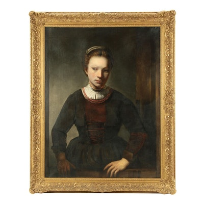 Dutch Style Portrait of a Gentlewoman Oil Painting