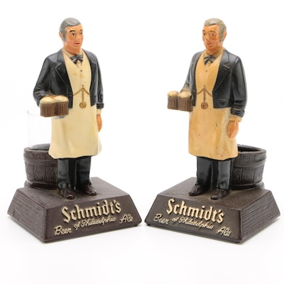 Schmidt Brewing Co. Painted Cast Metal Bartender Beer Holders with Glass