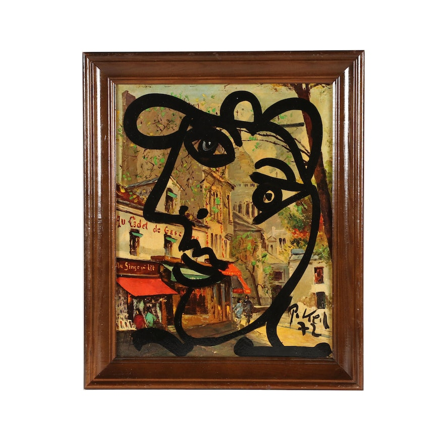 "Peter Keil Oil Painting ""Pablo Picasso in Montmartre"""