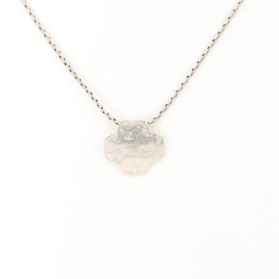 Silpada Sterling Silver Pendant on Fancy Link Necklace