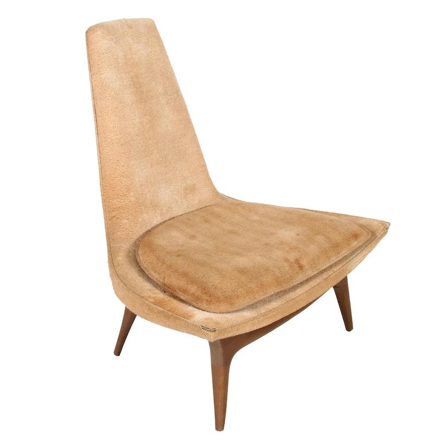 Mid Century Modern Vladimir Kagen for John Follows Lounge Chair