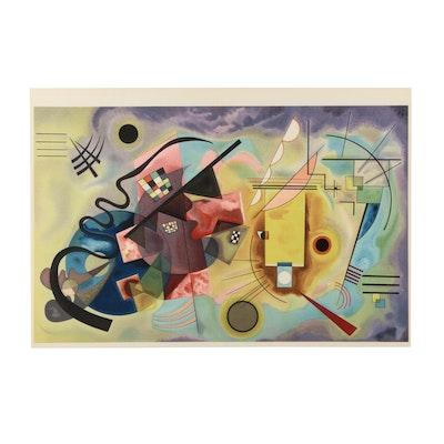 """Wassily Kandinsky Color Lithograph for """"Derrière le Miroir"""" """"Rouge Jaune Bleu"""""""