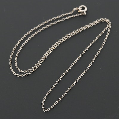 Platinum Cable Link Chain Necklace