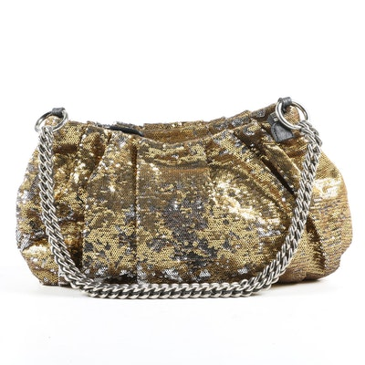 OrYany Wendy Mixed Sequin Shoulder Bag with Chain Strap