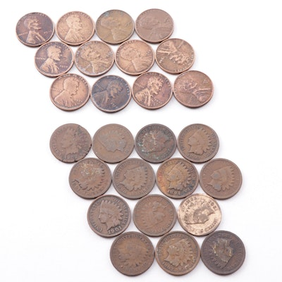 Wheat Pennies and Indian Head Cents