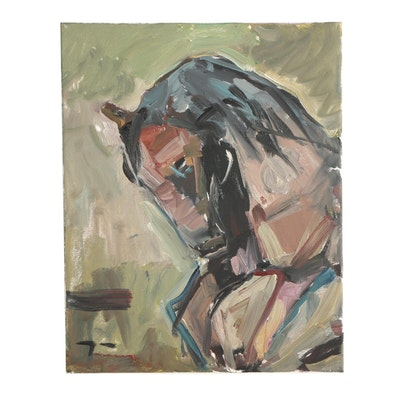 "Jose Trujillo 2019 Oil Painting ""The Horse"""