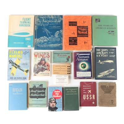 Aviation Books and Instruction Manuals with Playing Cards