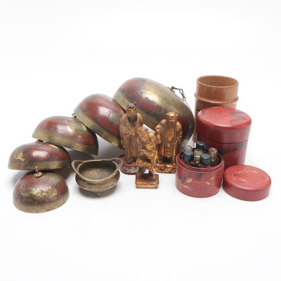 Japanese Graduated Temple Bells with Other East Asian Decor