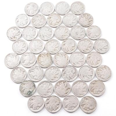 Forty Buffalo Nickels