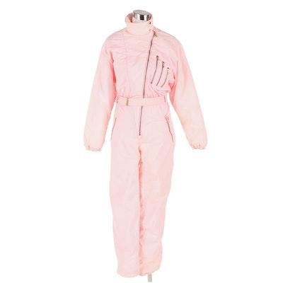 5th Avenue Pale Pink Ski Suit, 1980s Vintage