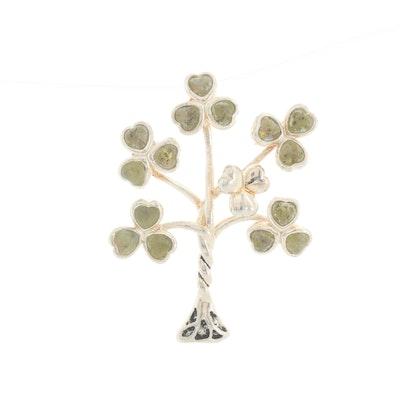 Sterling Silver Serpentine Tree Pendant