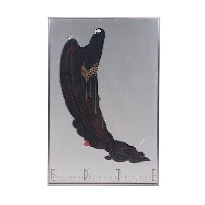 """Mirage Editions Serigraph Poster after Erté """"Soirée"""""""
