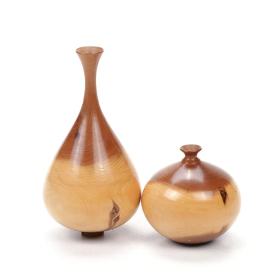 Turned Wood Vases