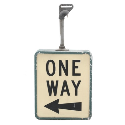 Vintage One-Way Street Sign