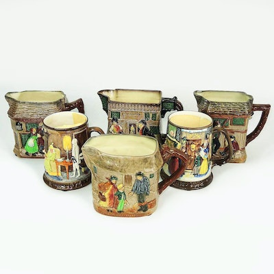 Royal Doulton Charles Dickens Ceramic Pitchers