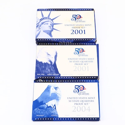 Three U.S. Mint Proof Sets